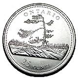 Canada 1992 ON 25 cents Ontario UNC Provincial Canadian Quarter