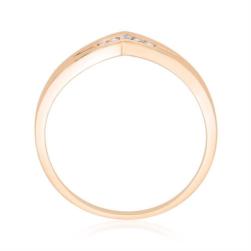 G-H,I2-I3 Diamond Wedding Band in 10K Pink Gold 1//20 cttw, Size-10