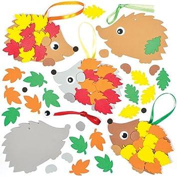 Bastelset Für Deko Anhänger Igel Für Kinder Zum Selbermachen Ideal Als Herbstdeko 5 Stück