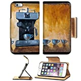 drink machin - MSD Premium Apple iPhone 6 Plus iPhone 6S Plus Flip Pu Leather Wallet Case Modern coffee machine with cups painted on canvas with oil paints IMAGE 19590198