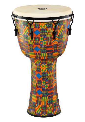 Meinl Percussion PMDJ2-XL-G Extra Large Mechanically Tuned Travel Series Djembe with Synthetic Shell and Goat Skin Head, Kenyan Quilt