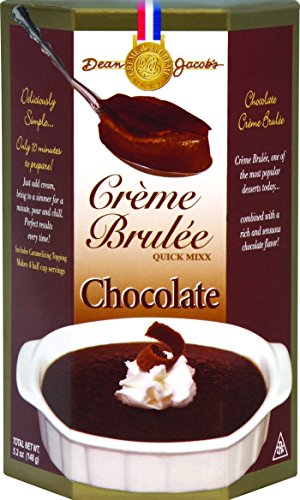 Dean Jacob's Chocolate Creme Brulee Mix, 5.2 OZ Microwave Creme Brulee