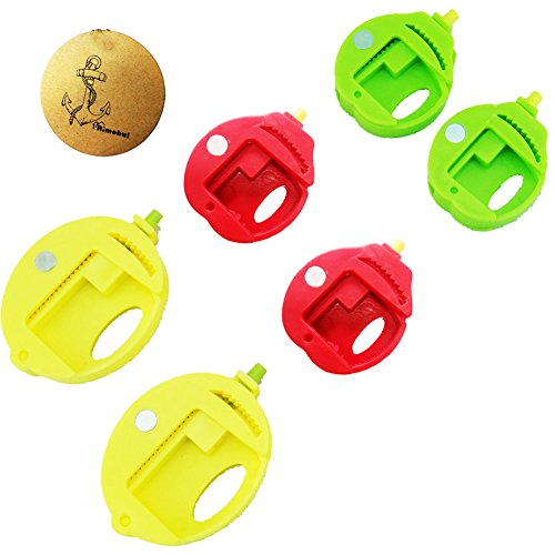 Rimobul Food Storage Fruit Pattern Bag Clips Round Sealer, Set of 6 image