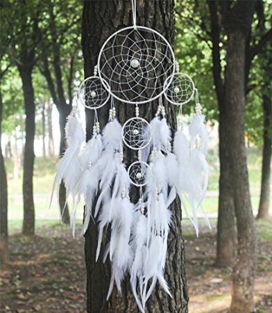 artistic-big-hot-white-dreamcatcher-wind-chimes-indian-style-pearl-feather-pendant-dream-catcher-gif