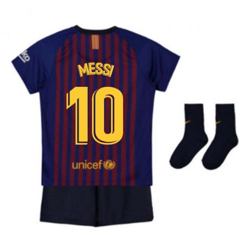 UKSoccershop 2018-2019 Barcelona Home Nike Baby Kit (Lionel Messi 10)