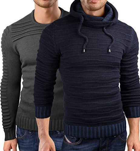 26b869b6c89f Grin Bear Slim fit Pullover Strick Sweatshirt Herren, GEC340-318   Amazon.de  Bekleidung