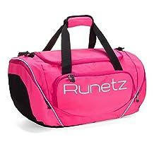 Runetz - HOT PINK Gym Bag Athletic Sport Shoulder Bag for Men & Women Duffel 20-inch Large - Pink