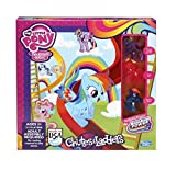 dash board game - My Little Pony - Friendship is Magic - Rainbow Power - Chutes and Ladders Board Game - with 3 Exclusive Ponies - Princess Twilight Sparkle, Pinkie Pie & Rainbow Dash