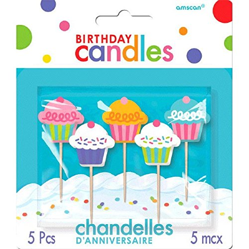 pcakes Birthday Toothpick Candles, Pack of 5, Multi , 2.5