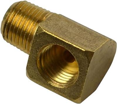 5//16 Tube OD x 1//8 NPT Male Barstock Brake Line 90 Degree Male Elbow Legines Brass Inverted Flare Fitting Pack of 2