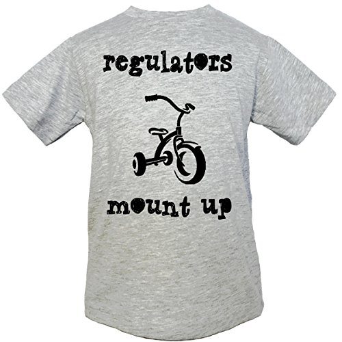 Think Apparel, (Regulators Mount Up) Boys & Girls Unisex Fine Jersey Top (3T, Gray) by Think Apprarel