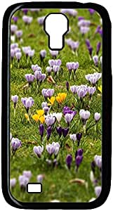 Crocus Meadow Designed Pattern Protevtive Hard Back Case Cover for Samsung Galaxy S4 I9500