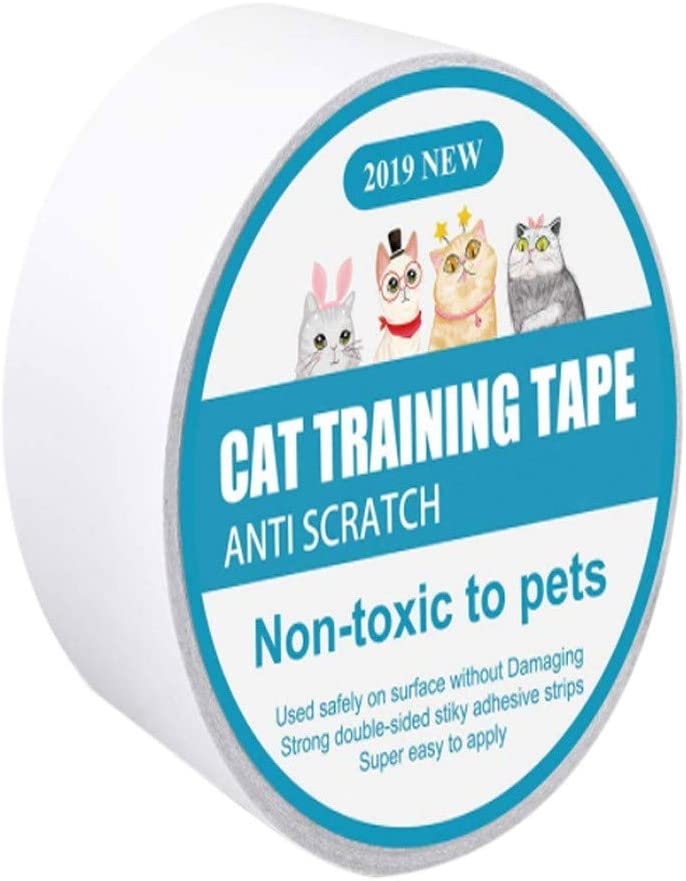 Tutuba Anti-Scratch Cat Training Tape,Clear Single-Sided Cat Scratch Tape Furniture Protector for Couch, Carpet, Doors