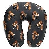 Camp Ursula Cute Red Panda Animal Soft Memory Foam Neck Support Travel Pillow