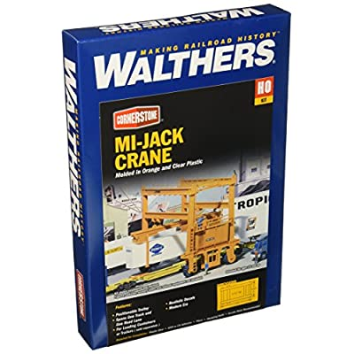Walthers Cornerstone HO Scale Model  Mi-Jack Translift Intermodal Crane: Toys & Games