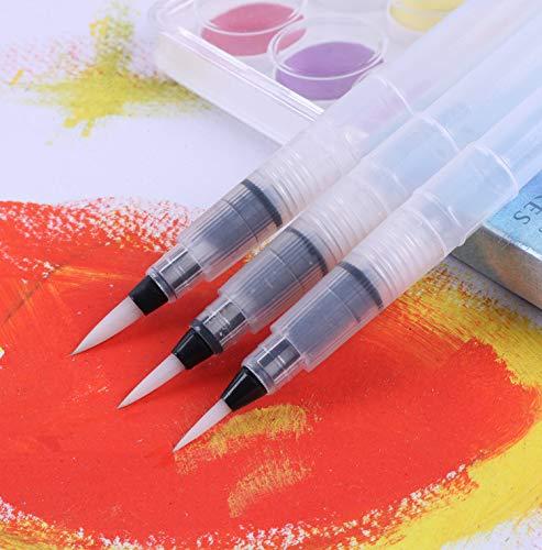 Yishaner 3pcs//set pennello ricaricabile acqua pennello penna inchiostro Water color morbido testa calligrafia disegno pittura illustrazione penna pennarello