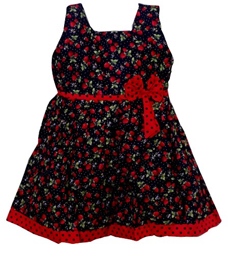 3e5ef4775 All About Pinks Girl's Cotton Strawberry Printed Frock: Amazon.in: Clothing  & Accessories