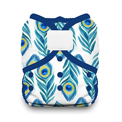 Thirsties Duo Wrap Cloth Diaper Cover, Hook and Loop Closure, Plume Size Two (18-40 lbs)