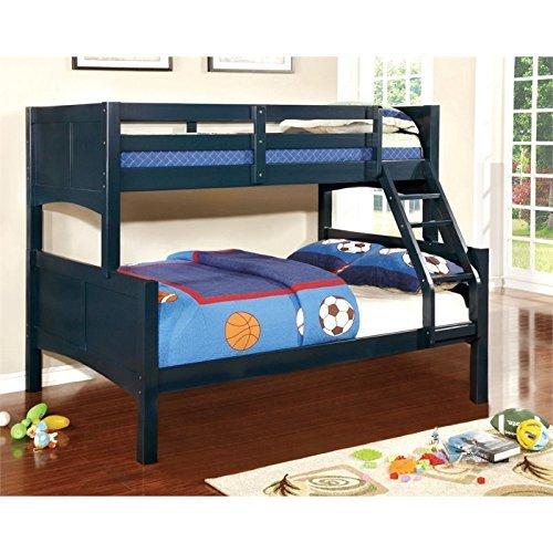 Furniture of America Marko Twin-Full Bunk Bed, Blue