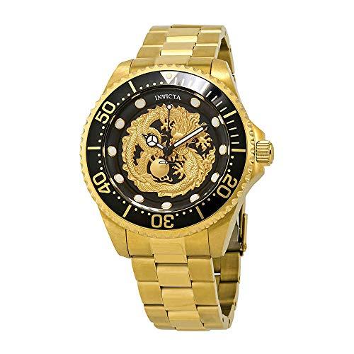 Invicta 26490 Men's Pro Diver Black & Gold Dial Automatic -