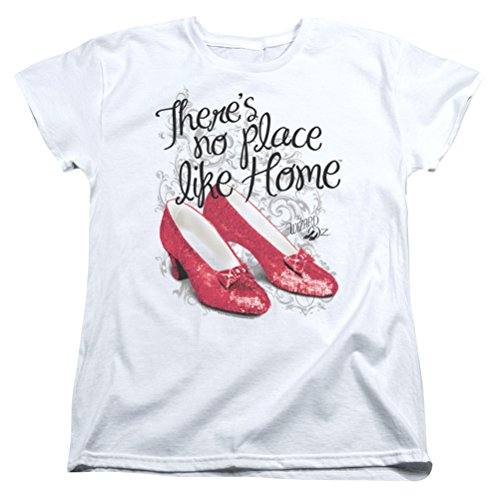 Ladies The Wizard Of Oz Red Ruby Slippers Shirt, White, - Kansas North Metro City