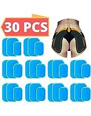 Hoja Gel Pad de Repuesto para EMS Electroestimulador Muscular Gluteos ABS, Accesorio para EMS gluteos Trainer, Reemplazo Electrodos 30 Piezas