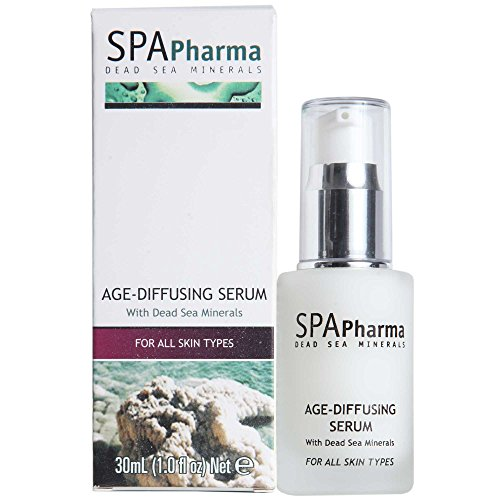Spa Pharma Age Diffusing Serum for All Skin Types Enriched with Dead Sea Minerals and Aloe Vera (1.0 Fluid Ounce) (Diffusing Serum)
