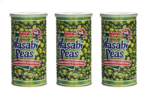 Hapi Hot Wasabi Peas (Hapi Hot Wasabi Peas, 9.9 Ounce (Pack of 3))