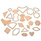 54Pcs Mixed Quilt Templates Acrylic Handmade DIY Craft Sewing Tools Accessories for Patchwork Quilter Clear