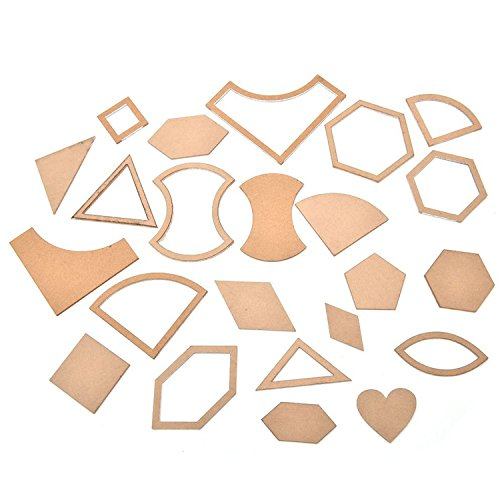 54Pcs Mixed Quilt Templates Acrylic Handmade DIY Craft Sewing Tools Accessories for Patchwork Quilter Clear by Gosear