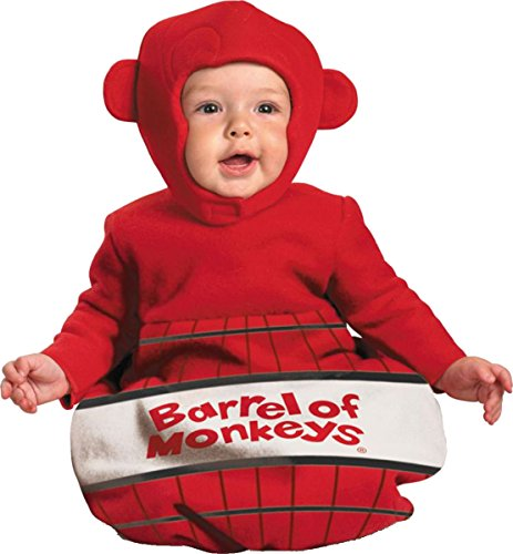 [Barrel of Monkeys Bunting Costume - Newborn] (Barrel Of Monkeys Infant Bunting Costumes)