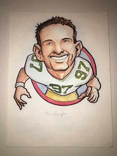 Green Bay Packers Original Art (Green Bay Packers Aaron Kampton #97 Original Art Illustration Rare HERO Deck Drawing! (Parody Productions LOA))