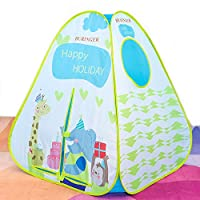 Buringer Kids Teepee Tent Decoration for Boys and Girls Red Playhouse Princess Castle for Toddler Outdoor and Indoor Fun Plays ...