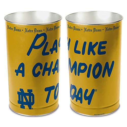 WinCraft NCAA 2657710 Notre Dame Tapered Wastebasket, 15
