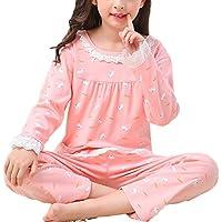 BYXA Girls Kids Princess Lace Nightgown Long Sleeve Cotton