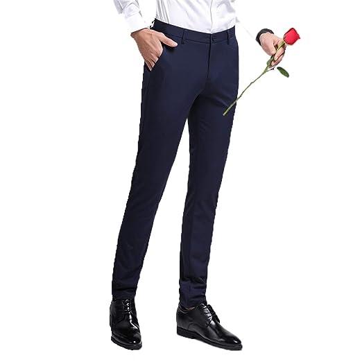 WYX Pantalones De Traje Delgado para Hombre Pantalones De Boda ...