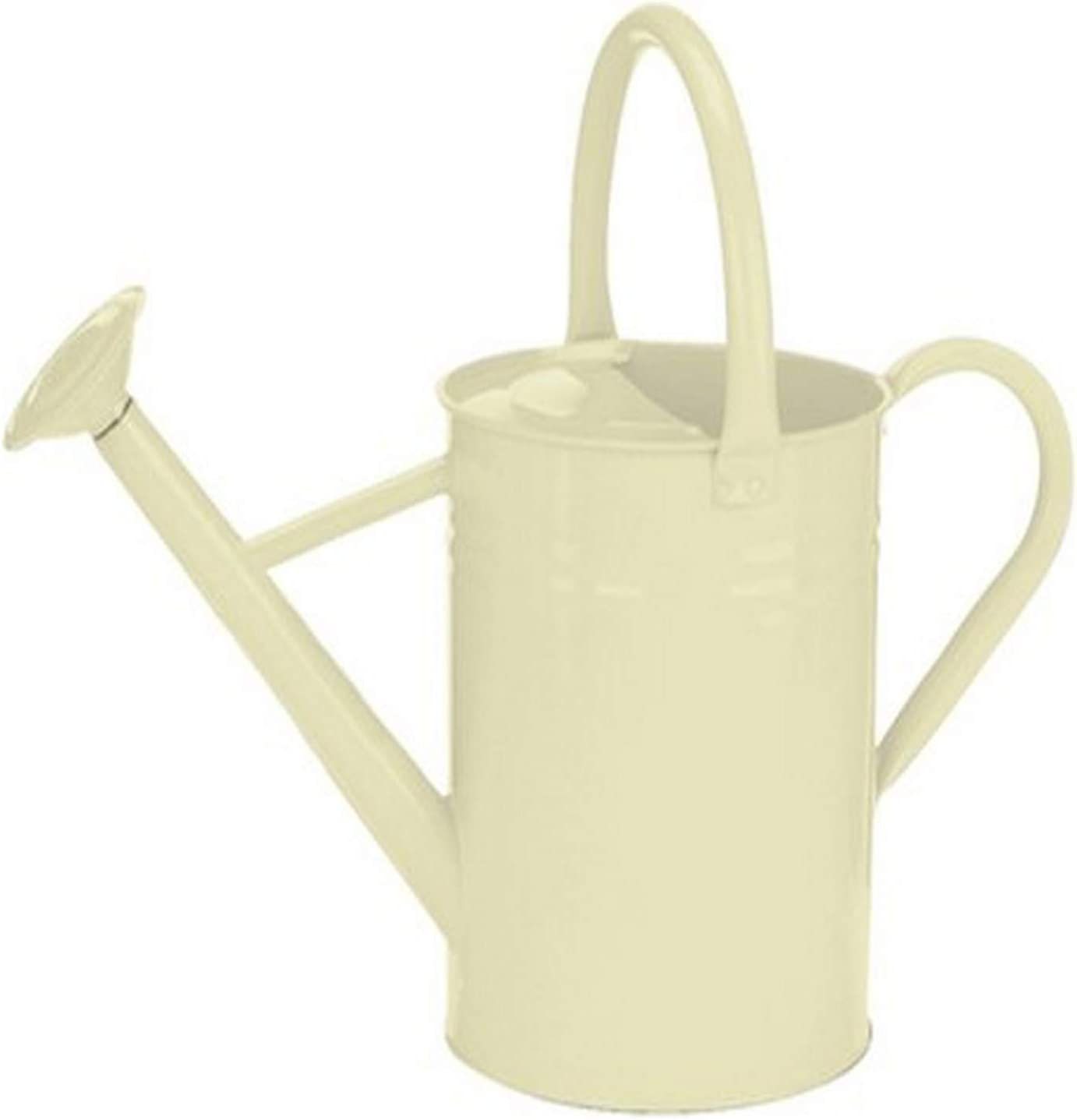 Gardman 8334 Galvanized Steel Watering Can, Cream, 1-Gallon