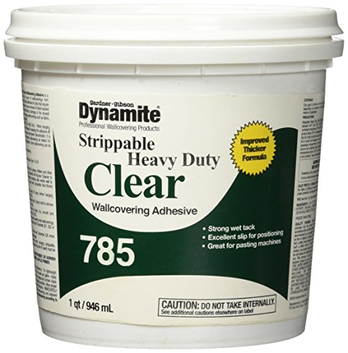 Gardner 2149529 Series 7785-3-16 Qt Clear Dynamite 785 HD Strippable Wallcovering Adhesive