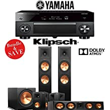 Klipsch RP-280FA 5.1-Ch Reference Premiere Dolby Atmos Home Theater Package with Yamaha AVENTAGE RX-A3070BL 11.2-Channel Network AV Receiver