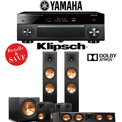 Klipsch RP-280FA 5.1-Ch Reference Premiere Dolby Atmos Home Theater Package with Yamaha AVENTAGE RX-A3070BL 11.2-Channel Network AV Receiver by Klipsch