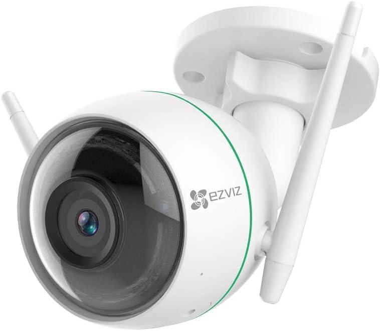 EZVIZ Wi-Fi Cámara de Vigilancia Exterior 1080p, IP FHD Cámara de Seguridad con Visión Nocturna, Detección de Movimiento, Impermeable IP66, Compatible Con Alexa, Google Home, C3WN Nueva Versión