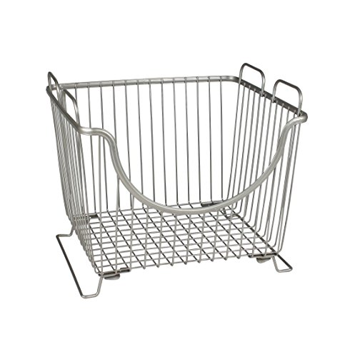 Spectrum Diversified Ashley Stackable Basket, Large, Satin Nickel (Basket Stackable)