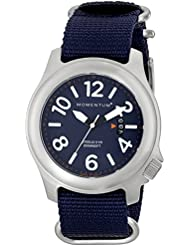 Men's Sports Watch | Steelix Nylon Adventure Watch by Momentum | Stainless Steel Watches for Men | Analog Watch...
