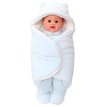 AOLVO Arrullo Mantita Envolvente, Baby Swaddle Blanket Sleep Sack, Saco de Dormir Dividir la Pierna para Bebés Recién Nacidos 0-6 Meses: Amazon.es: Hogar