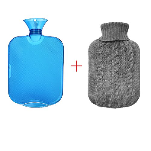 Classic Rubber Hot Water Bottle With Knit Cover for staying warm camping in a tent with tips to stay warm when camping
