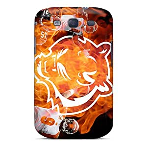 Bumper Hard Phone Covers For Samsung Galaxy S3 (OuH7707bicU) Custom Colorful Cincinnati Bengals Pictures