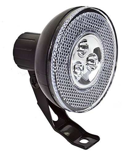 SUNLITE HL-L301 Head Front Light 3 LED Water Resistant Bike Bicycle Safety NEW