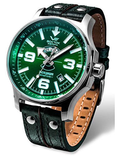 Vostok-Europe Expedition Russian Sunray Green Automatic Watch 2432/5951276 Limited Edition