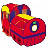 Biscount Pop-Up Red Train With Carriage Play Tent Indoor & Outdoor Playhouse