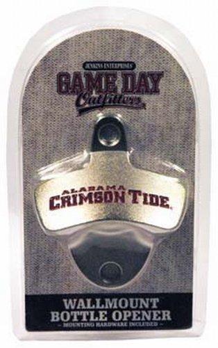 (NCAA Alabama Crimson Tide Bottle Opener Metal Retro Wall Mount, Small, Metallic with Team)